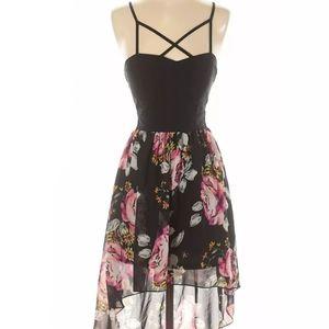 Charlotte Russe Sleeveless Floral Dress w/ Zipper